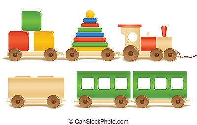 Holzfarbenes Spielzeug