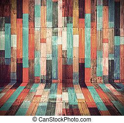 Holzmaterial für die Vintage Tapete