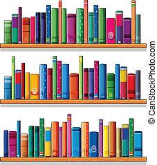 Holzschere mit Büchern
