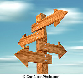 Holzwegzeichen