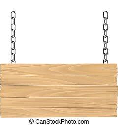 Holzzeichen auf Ketten Illustration