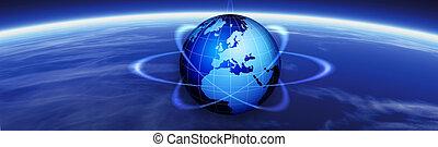 Horizon und World Globe-Banner