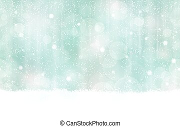 horizontal, bokeh, winter, hintergrund, seamless