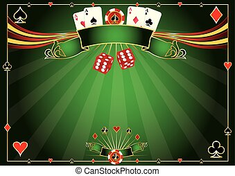 Horizontale grüne Casino Hintergrund.