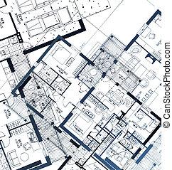 Horizontaler Plan. Vektor Illustration