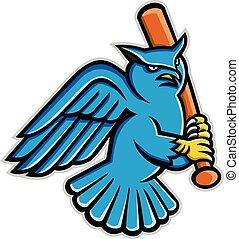 Horned-Eule-Baseball-Maskottchen.