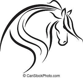 Horse silhouette Logo Vektor