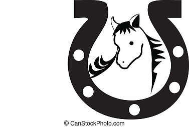 Horseshoe silhouette Logo