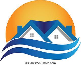 House Logo - Immobilienvektor.