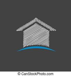 House Scribble Design Logo.