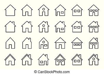 House-Symbol, Pixel perfekte Vektorgrafik.