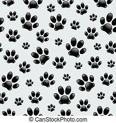 hund, footprints-seamless, muster