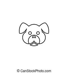 hund, logo, kopf