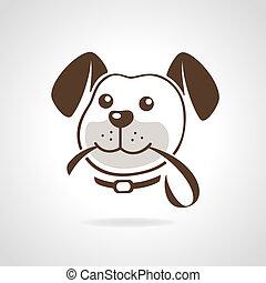 Hund mit Leine.