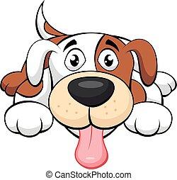 hund, reizend, karikatur