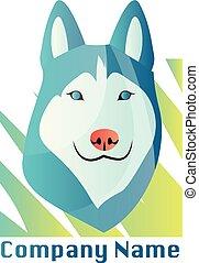 hund, vektor, design, hintergrund, heiser, logo, weißes
