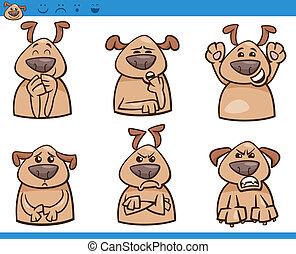 Hunde-Emotions-Trickfilm- Illustration.
