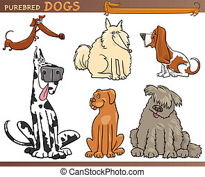 Hunde züchten Cartoon-Sets