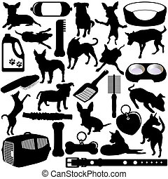 hundebabys, hunden, accessoirs