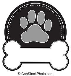 Hundeknochen und Pfote