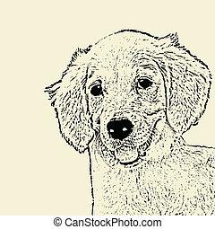 Hundekopfposter