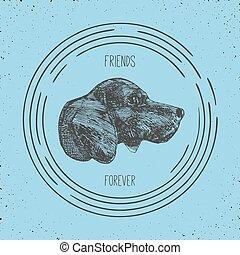Hundekopfstempel.