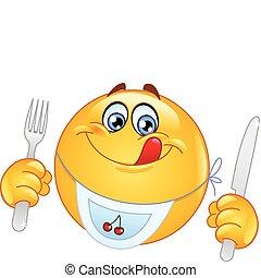Hungriges Emoticon