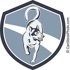 Husky Hunde-Retro.