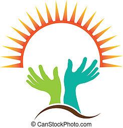 Ich bete das Logo der Hand