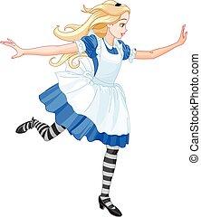 Ich führe Alice.