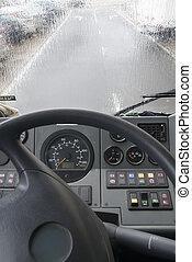 Ich fahre im Regen