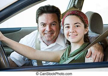 Ich fahre mit Dad