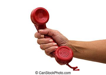 Ich gehe ans Telefon