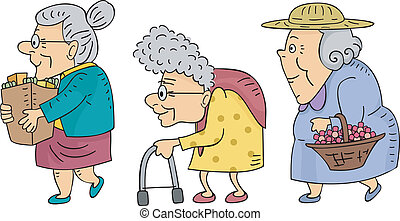 Ich gehe mit älteren Frauen.