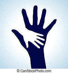 Ich helfe den Händen