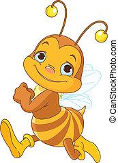 Ich laufe süße Bienen.