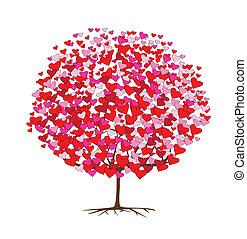 Ich liebe Bäume mit Herzen, Valentinsmee