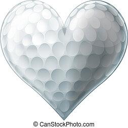 Ich liebe Golfballherz.