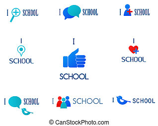 Ich liebe Schule, soziale Netzwerke und Medien-Ikonen