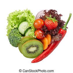 Ich liebe vegetarisches Essen.