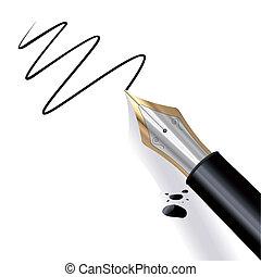 Ich schreibe einen Füllfederhalter