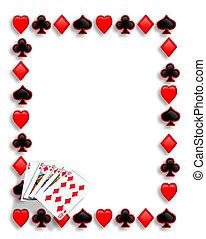 Ich spiele Karten Poker, Royal Flush