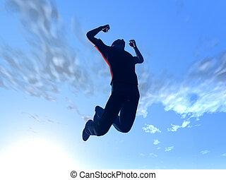 Ich springe in den Himmel