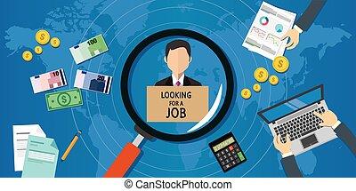 Ich suche Arbeit.