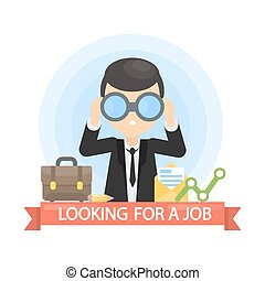Ich suche einen Job.