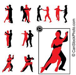 Ich tanze Silhouette