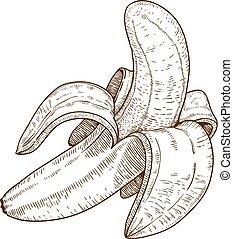Ich veranschauliche die Banane.