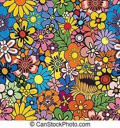 Ich wiederhole Blumenhintergrund.