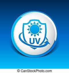 Icon, Etikett oder Aufkleber gegen UV-Schutz.