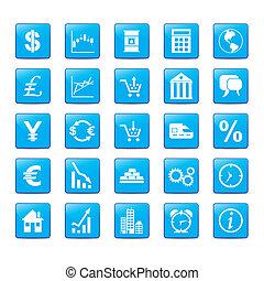 Icon hat für Märkte einen blauen Stil.